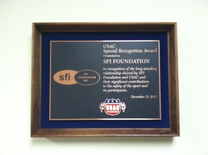USAC Special Recognition Award to SFI